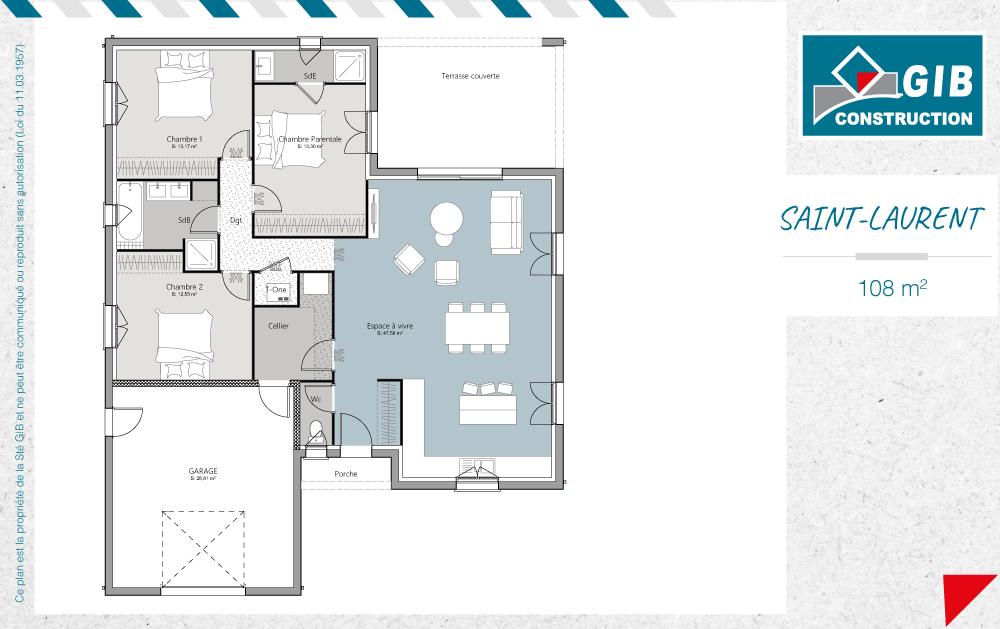 Saint-Laurent un modèle de maison neuve - GIB Construction